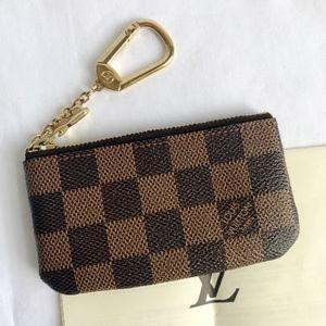 Louis Vuitton Damier Ebene Key Pouch Key Cley